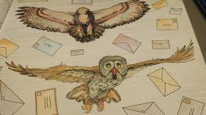 Harry Potter Coloring Book Owls