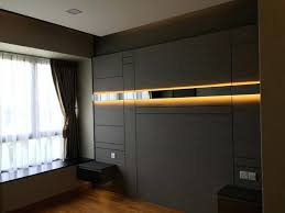 Led Strip Light Bedroom Ideas Bedhead Feature Wall With Inside