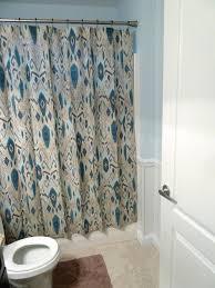 White Ruffle Curtains Target blue and white ruffled shower curtain black waterfall ruffle