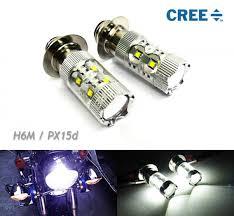 1x h6m px15d p15d25 1 light bulb 12v cree led 50w headlight