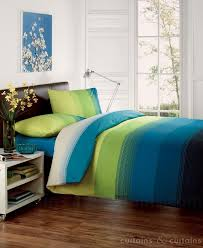 Bedroom Beautiful Green forter Sets With bination Blue