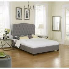 Sleep Sync Oak Harbor Uphostered Medium Grey Linen Platform Slat Bed Complete Shopping SpreeBedroom DecorPlatformSleepLinens