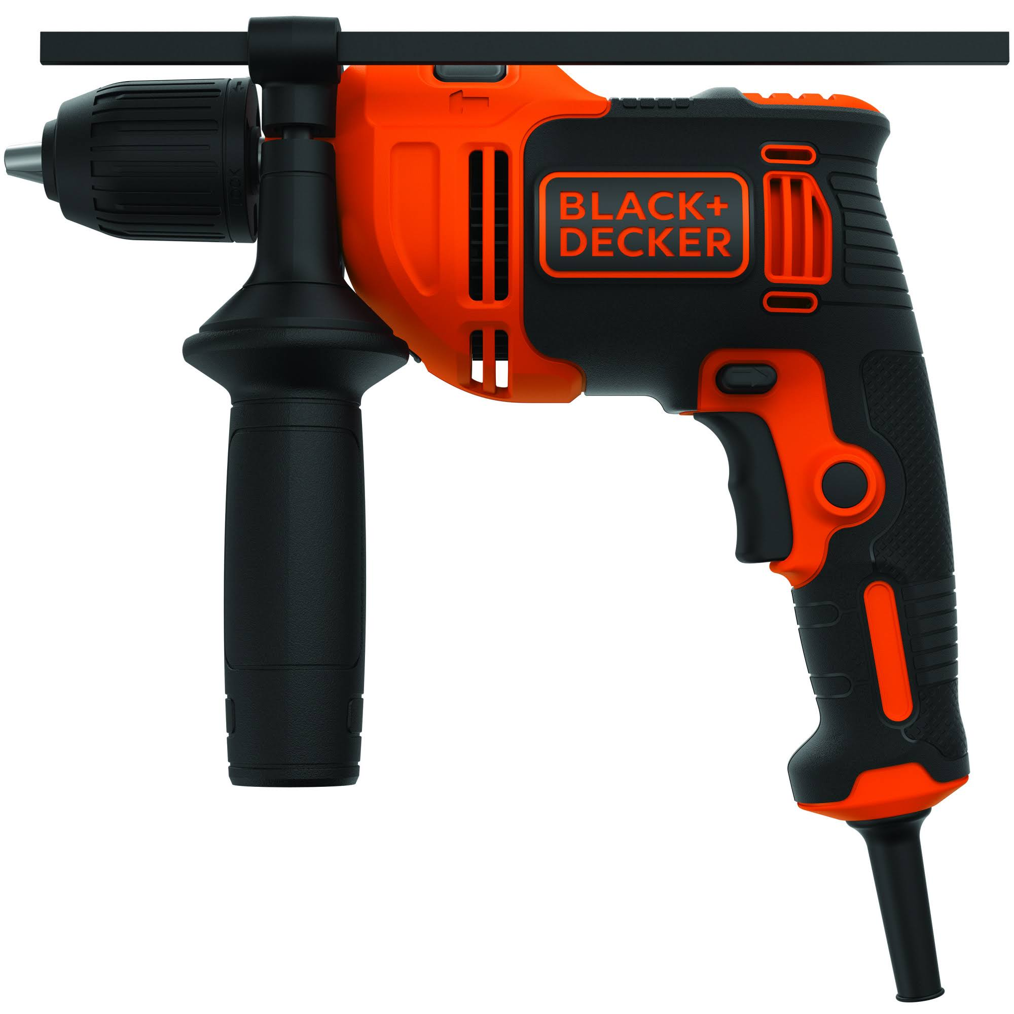 "Black and Decker BEHD201 Corded Hammer Drill - Black/Red, .5"", 6.5amp"