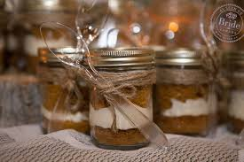 Mason Jars Filled With Layer Cake For Wedding