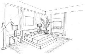 nicholas obeid bedroom sketch interior design sketches