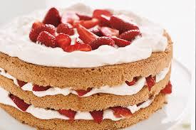 Strawberry and Cream Cake with Cardamom Syrup recipe