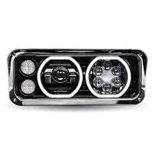 Black Universal LED Projector Headlight Assembly - Elite Truck ... Stedi 7 Inch Iris Led Headlight Motorbike Truck Jeep Wrangler Harley Ece Right Hand Traffic Round 2 Diode Led Lights For Trucks Headlights Lamps Ideas Lllspg9006 9006 Headlight Bulbs With Blue Glow Light Lifetime 2015 Ford F150 Platinum Raptor Upgrade Kit Kc Hilites Gravity Single Trux Accsories 5 34 575inch W Light Bar Corvettes Chevelles 5672018fdf150bixenonhidretfitledprojector Upgrading Your Sealed Beam Halogen Versus The Drive