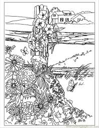 Wildflowers Preview Coloring Page