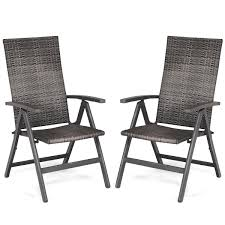 Costway 2 PCS Rattan Folding Reclining Chairs Outdoor Wicker Portable  Chairs Armrest Kawachi Foldable Recliner Chair Amazoncom Lq Folding Chairoutdoor Recling Gardeon Outdoor Portable Black Billyoh And Armchair Blue Zero Gravity Patio Chaise Lounge Chairs Pool Beach Modern Fniture Lweight 2 Pcs Rattan Wicker Armrest With Lovinland Camping Recliners Deck Natural Environmental Umbrella Cup Holder Free Life 2in1 Sleeping Loung Ikea Applaro Brown Stained