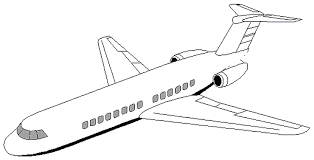 Detail 2014 Printable Airplane Coloring Pages