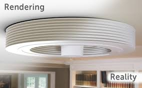 bladeless ceiling fan uses vortex airflow to regulate room temperature