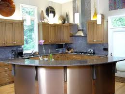 Kitchen Half Round Table Decoration With Granite Countertops Also Corner Design Unfinished Cabinets Remodeling Ideas