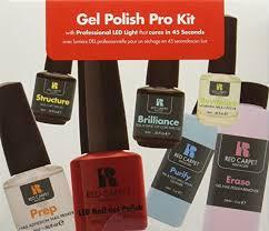 Red Carpet Manicure Led Light by Amazon Com Red Carpet Manicure Pro 45 Starter Kit Gel Nail Kit
