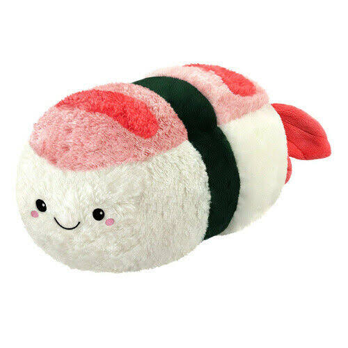 Squishable Comfort Food Shrimp Sushi Plush Toy - 15""