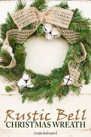 Rustic Bell DIY Christmas Wreath Crafts Unleashed 1