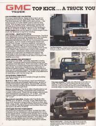 100 Top Kick Truck 1986 GMC Sales Brochure