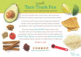 Taco Truck Fun Kit | Kidstir Food Truck Fried Tacos My Recipe Magic Portland Recipes 365 Days Of La Salsita San Antonio Expressnews Secrets 10 Things Trucks Dont Want You To Know Filipino Sisig Chicken Mexican Street Cooking With Cocktail Rings Kogi Taco Summer Archives The Partial Ingredients 173 Best And Images On Pinterest Recipe Szechuan Truck Style Favorite Chili Taco Pizza Ready Set Eat