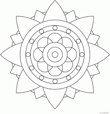 Easy Mandala Coloring Pages Az In Pertaining To Household