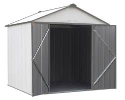 Arrow Woodridge Steel Storage Sheds by Arrow Ezee Steel Storage Shed 6 X 5 Ft Galvanized Low Gable
