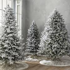 Flocked Norway Spruce 7 1 2 Full Profile Tree With Meteor Lights