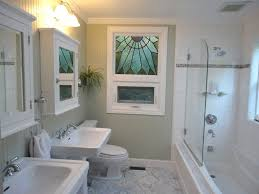 Half Bathroom Ideas With Pedestal Sink by Cottage 3 4 Bathroom With Painted Wood Panel Wall U0026 Simple Marble