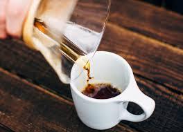 Chemex Pouring Coffee Into A Mug