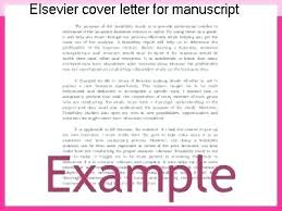 Cover Letter Manuscript Submission Sample For Coursework Academic