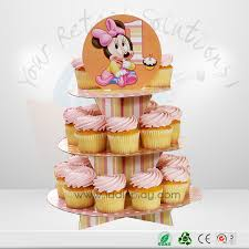 Good Price Custom Design Paper Corrugated Christmas 3 Tires Cardboard Cupcake Stand