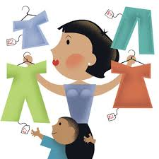 Buying Gently Used Kids Clothing Helps Make The Most Of Abused Donations Clipart