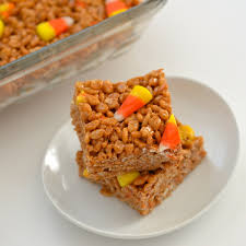 Rice Krispie Halloween Treats Candy Corn by Trick Or Krispie Treat The Dinnervine