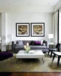 Living Room Purple Accents Transitional Door