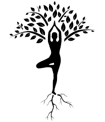 Yoga Tree Pose Silhouette Vinyl Wall Mural