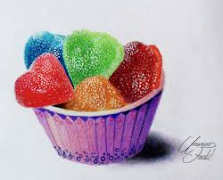 Sugar Can s in a paper cup Colored pencils by f a d i l