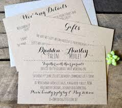 Rustic Wedding Invitations Modern Invitation Suite Kraft