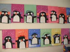 This Is A Cute Winter Art Project That Was Completed By Some Kindergarten Students I