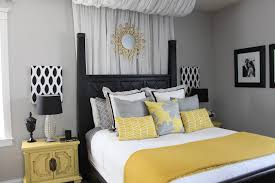 Yellow And Grey Themed Bedroom Best Decorations
