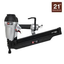 Home Depot Husky Floor Nailer by Porter Cable 21 Degree 3 1 2 In Full Round Framing Nailer Fr350b
