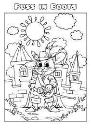 Puss In Boots Coloring Book Template