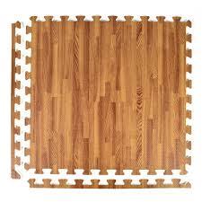 greatmats foamfloor dark wood grain design 2 ft x 2 ft x 1 2 in