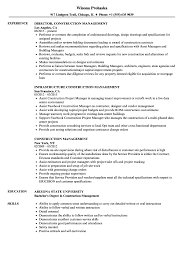Download Construction Management Resume Sample As Image File