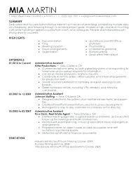 Perfect Resume Samples Administrative Assistant Examples Ple Skills Executive Best 2016