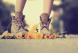 Amazing Beautiful Boots Brown Cool Fall Flowers Shoes