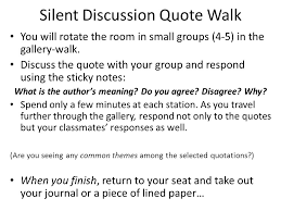 1 13 15 unit 5 tortilla curtain day 1 silent discussion quote