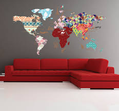 Wall Mural Decals Nursery by Cultural World Map Decal Pattern Map Wall Decal Clear Vinyl