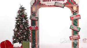 santa s workshop personalized arch party supplies shindigz