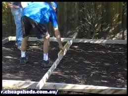 Absco Sheds Mitre 10 by Cheap Sheds Garden Sheds Absco Laying A Concrete Slab Youtube