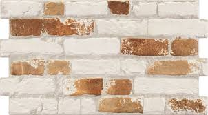 Manhattan Rustic White Red Brick Effect Tiles