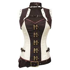 bertram steampunk corset with jacket and pouch clockwork