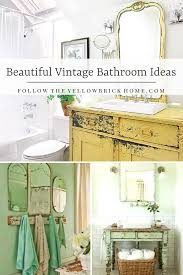 Follow The Yellow Brick Home - Beautiful Vintage Bathroom Ideas ... Retro Bathroom Tiles Australia Retro Pink Bathrooms Back In Fashion Amazing Of Antique Ideas With Stylish Vintage Good Looking Small Full For Bathrooms Houzz Country 100 Best Decorating Decor Design Ipirations For Grey Floor And Vanity Showe Half Contemporary Small Rustic And Vintage Bathroom Ideas Pictures Tips From Hgtv Artemis Office Revitalized Luxury 30 Soothing Shabby Chic Shabby Shower Designer Designs Victorian Add Glamour With Luckypatcher