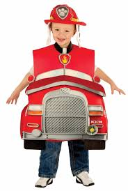 Rubies Paw Patrol Marshall Deluxe Fire Truck Child Boys Halloween ...